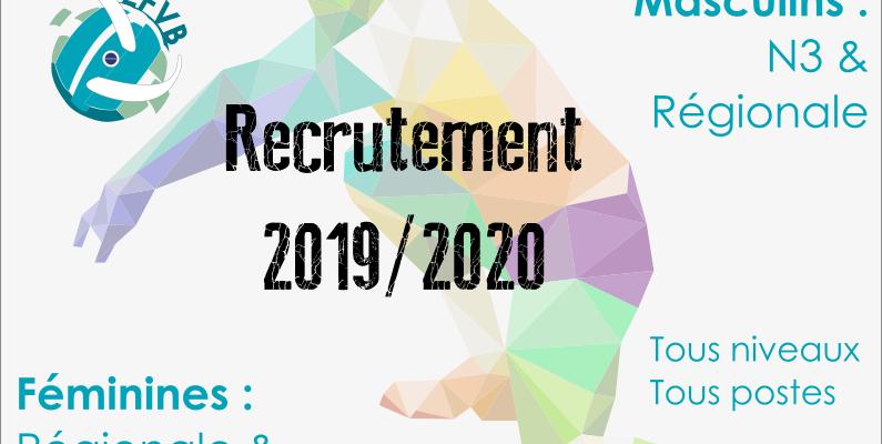 Saison 2019/2020, on recrute !