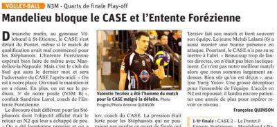 Articles Le Progrès des 12 et 13 mai, pages sports : barrages de montée en N2M