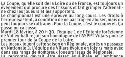 Article Le Progrès du 14 février pages de La Fouillouse